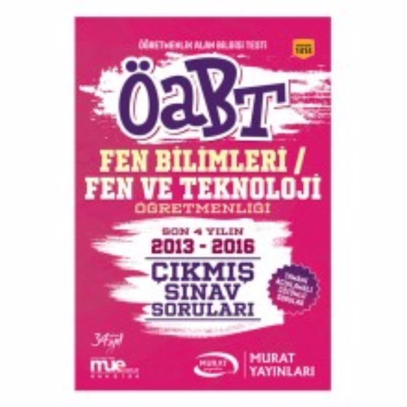Murat Yayınları 2017 ÖABT Fen Bilimleri Fen ve Teknoliji  Çıkmış Sınav Soruları