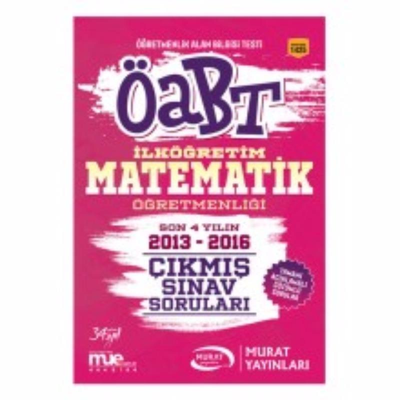 Murat Yayınları 2017 ÖABT İlköğretim Matematik  Çıkmış Sınav Soruları