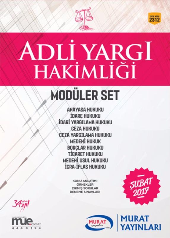 Modüler Set Adli Yargı Hakimliği Murat Yayınları