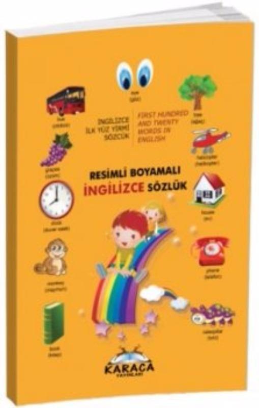 Karaca Yayınları Resimli Boyamalı İngilizce Sözlük