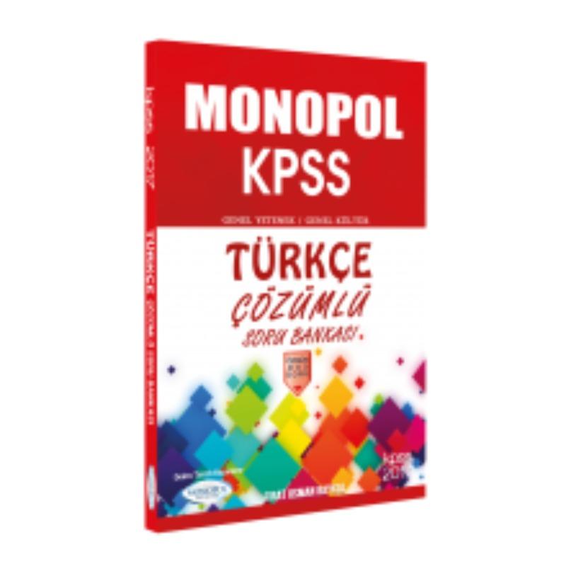 KPSS Türkçe Çözümlü Soru Bankası Monopol Yayınları 2017