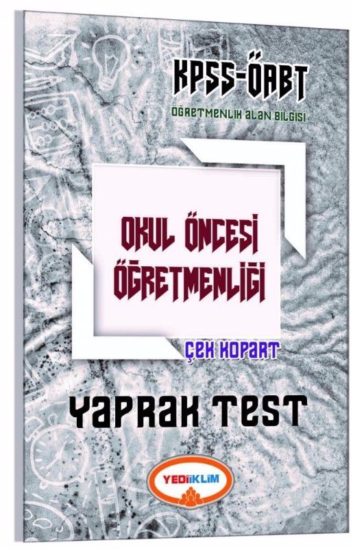 Yediikim Yayınları 2017 ÖABT Okul Öncesi  Çek Kopart Yaprak Test