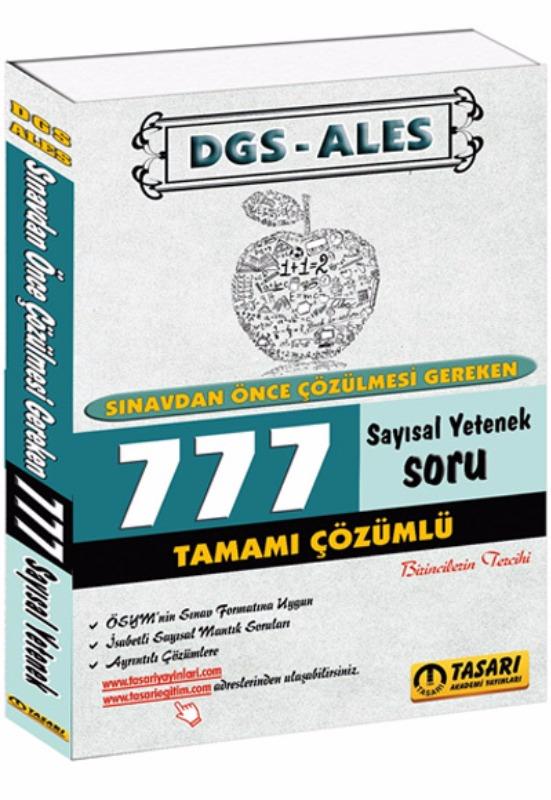 DGS ALES Sınavdan Önce Çözülmesi Gereken 777 SY Çözümlü Soru Bankası Tasarı Yayınları 2017