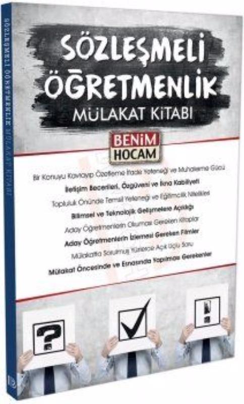 Benim Hocam Yayınları Sözleşmeli  Mülakat Kitabı