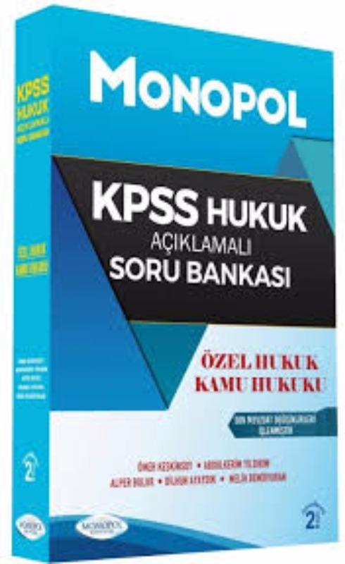 KPSS A Hukuk Açıklamalı Soru Bankası Monopol Yayınları 2017