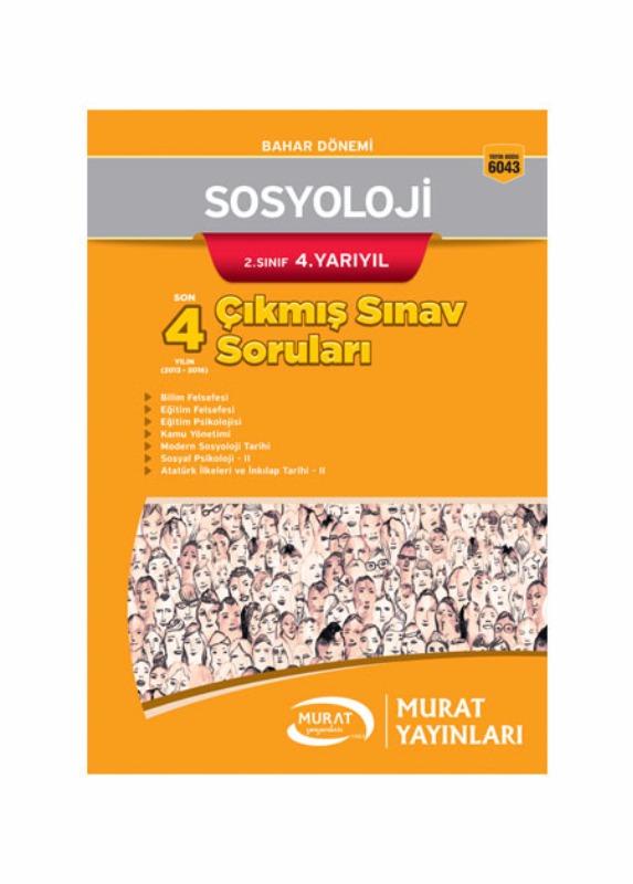 Murat Açıköğretim Yayınları Sosyoloji 2.Sınıf 4.Yarıyıl Çıkmış Sınav