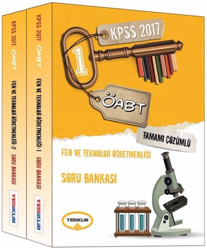 ÖABT Fen ve Teknoloji  Tamamı Çözümlü Modüler Soru Bankası Yediiklim Yayınları 2017