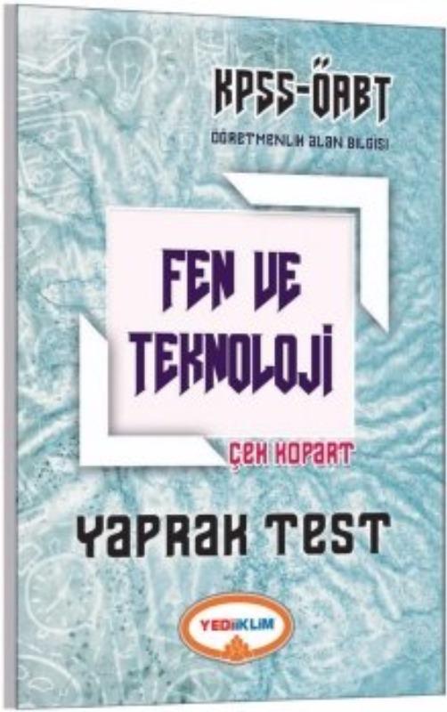 Yediiklim Yayınları 2017 ÖABT Fen ve Teknoloji  Çek Kopart Yaprak Test