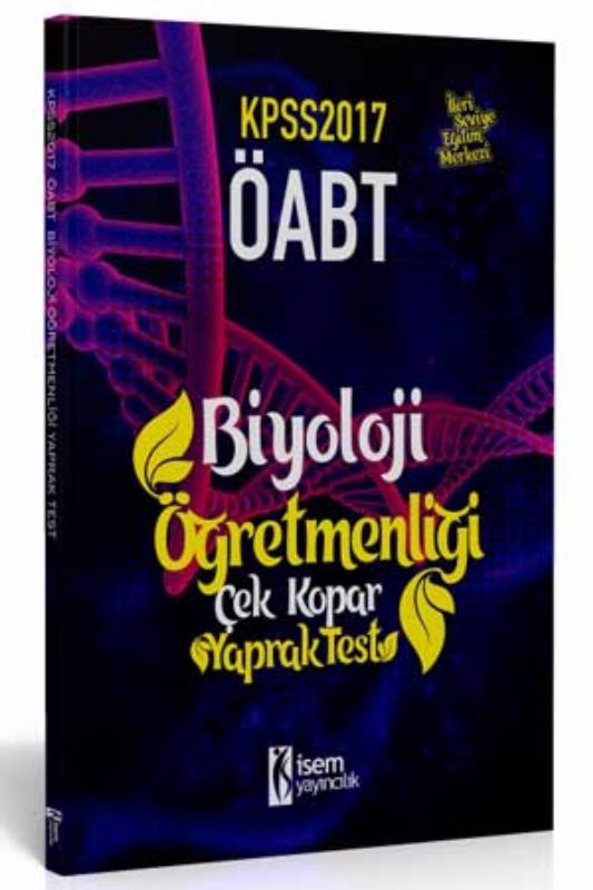 İsem Yayınları KPSS ÖABT Biyoloji  Çek Kopar Yaprak Test 2017