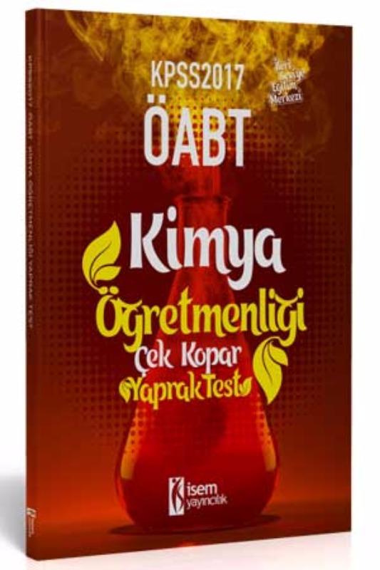 İsem Yayınları KPSS ÖABT Kimya  Çek Kopar Yaprak Test 2017