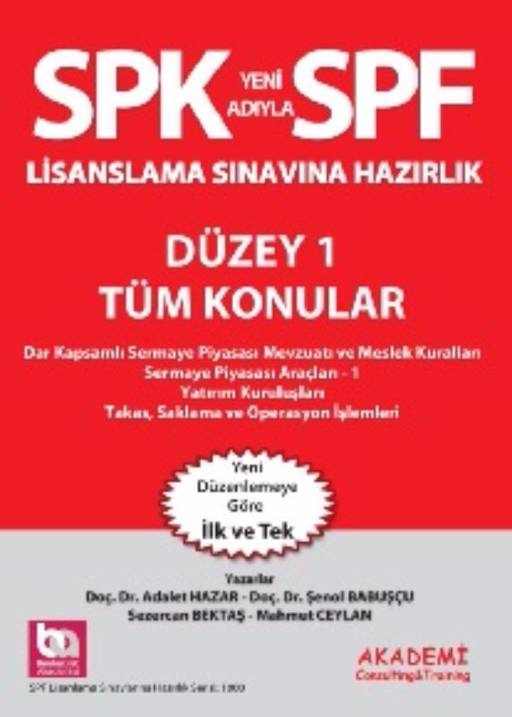 SPK Yeni Spf Düzey 1 Tüm Konular Lisanlama Sınavına  Hazırlık