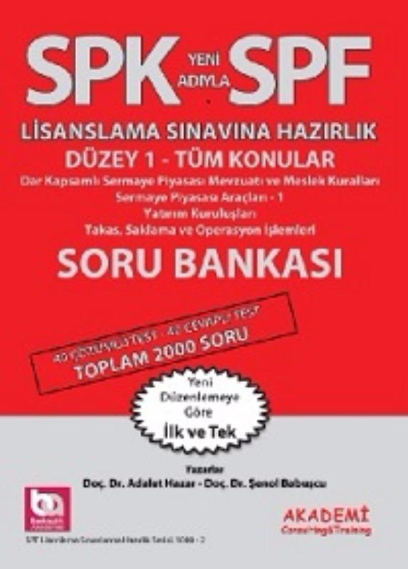 SPF Düzey 1 Tüm Konular Soru Bankası Akademi