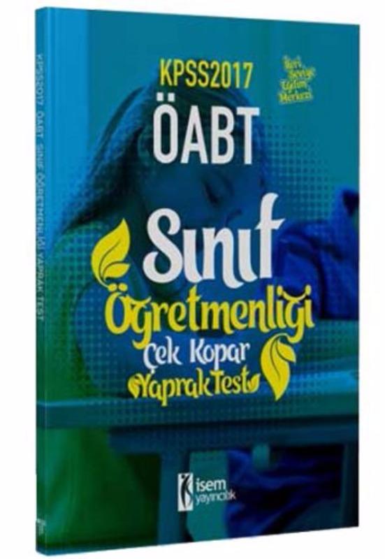 İsem Yayıncılık 2017 ÖABT Sınıf Çek Kopar Yaprak Test