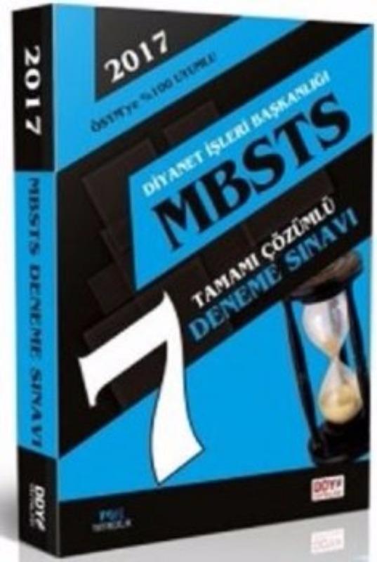 MBSTS Tamamı Çözümlü 7 Deneme DDY Yayınları 2017