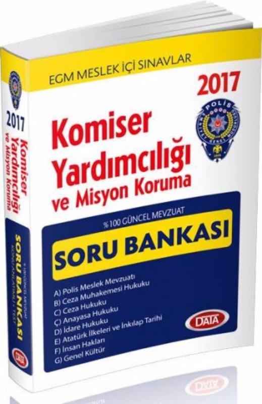 Komiser Yardımcılığı ve Misyon Koruma Hazırlık Soru Bankası Data Yayınları 2017