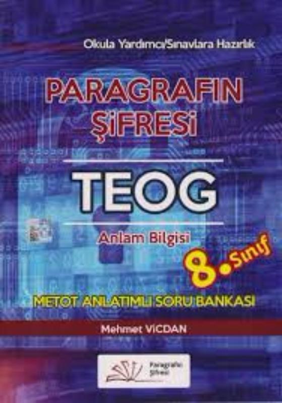 8. Sınıf Paragrafın Şifresi TEOG Anlam Bilgisi Metot Anlatımlı Soru Bankası Mehmet Vicdan