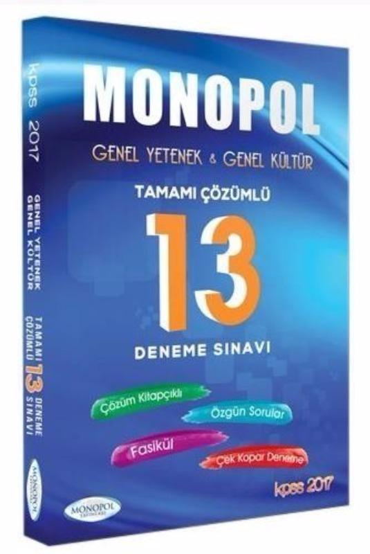 Monopol Yayınları 2017 KPSS Genel Yetenek Genel Kültür Çözümlü 7 Deneme Sınavı