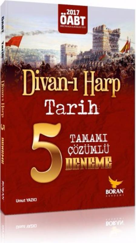 ÖABT Divan-ı Harp Tarih Tamamı Çözümlü 5 Deneme Sınavı Boran Akademi 2017