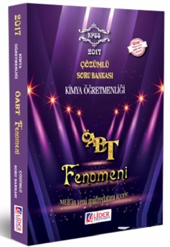 ÖABT Kimya  Fenomen Çözümlü Soru Bankası Lider Yayınları 2017