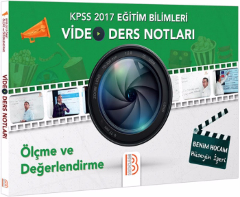 Benim Hocam Yayınları 2017 KPSS Eğitim Bilimleri Ölçme ve Değerlendirme Video Ders Notları
