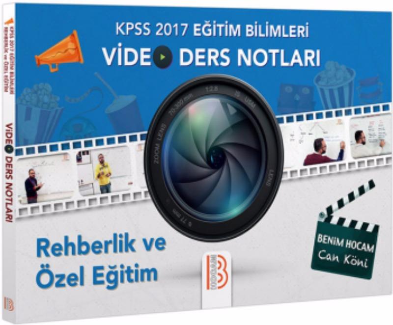 Benim Hocam Yayınları 2017 KPSS Eğitim Bilimleri Rehberlik ve Özel Eğitim Video Ders Notları