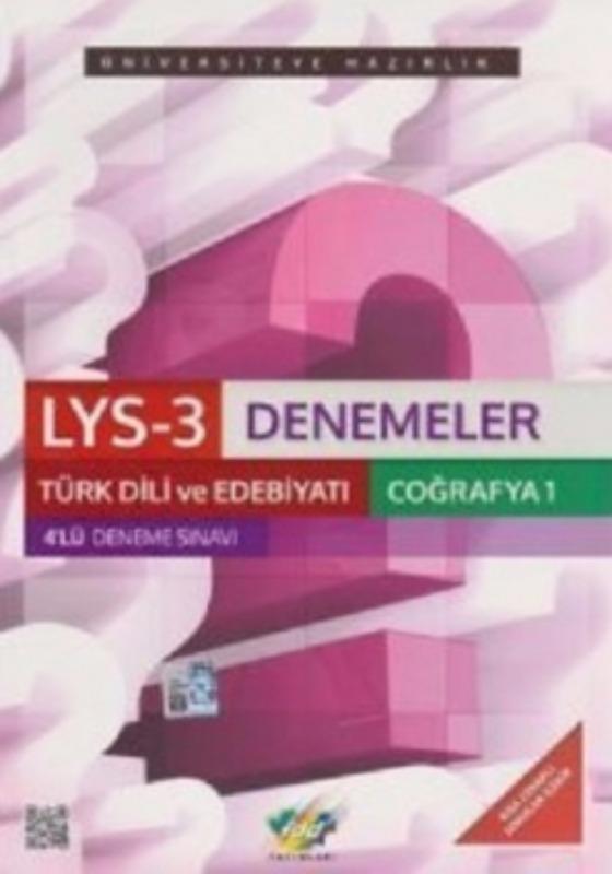 LYS-3 Türk Dili ve Edebiyatı Coğrafya-1 4 lü Set FDD Yayınları