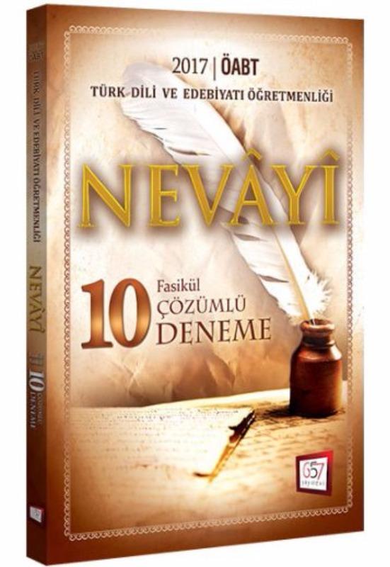 657 Yayınları 2017 ÖABT Nevayi Türk Dili ve Edebiyatı Çözümlü 10 Fasikül Deneme