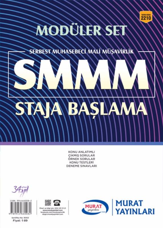 Murat Yayınları Smmm Mesleki Yeterlilik