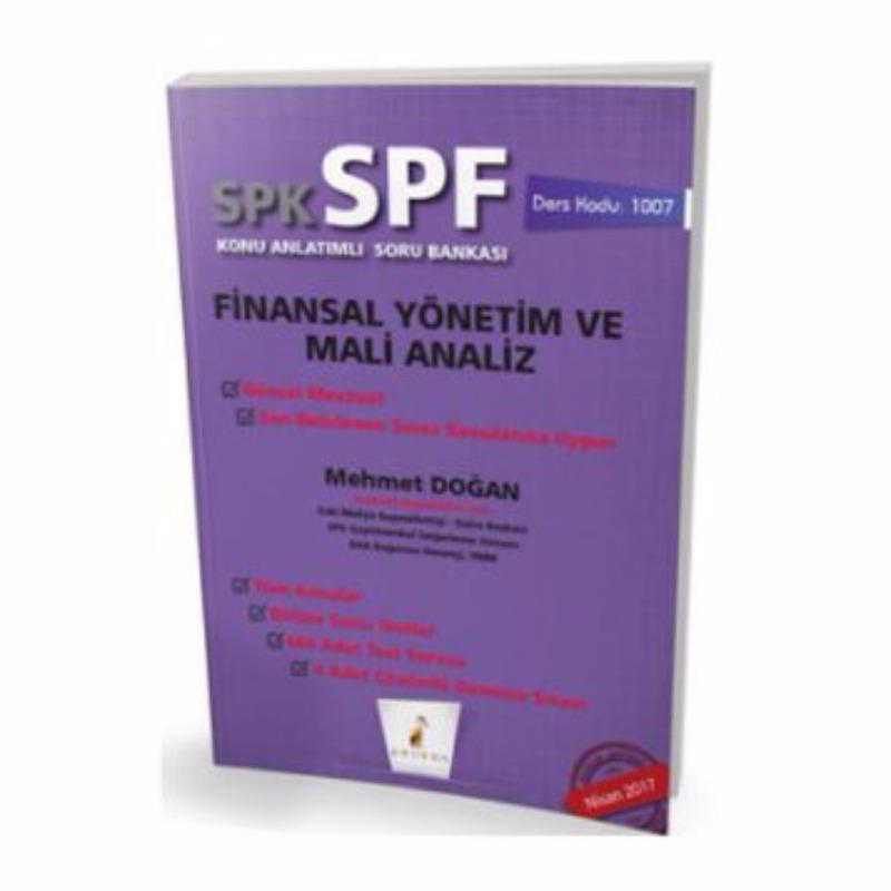 Pelikan Yayınları SPK – SPF Finansal Yönetim ve Mali Analiz Konu Anlatımlı Soru Bankası