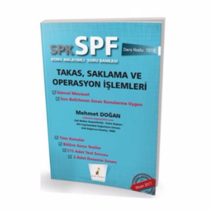 Pelikan Yayınevi SPK  SPF Takas Saklama ve Operasyon İşlemleri Konu Anlatımlı Soru Bankası 1012