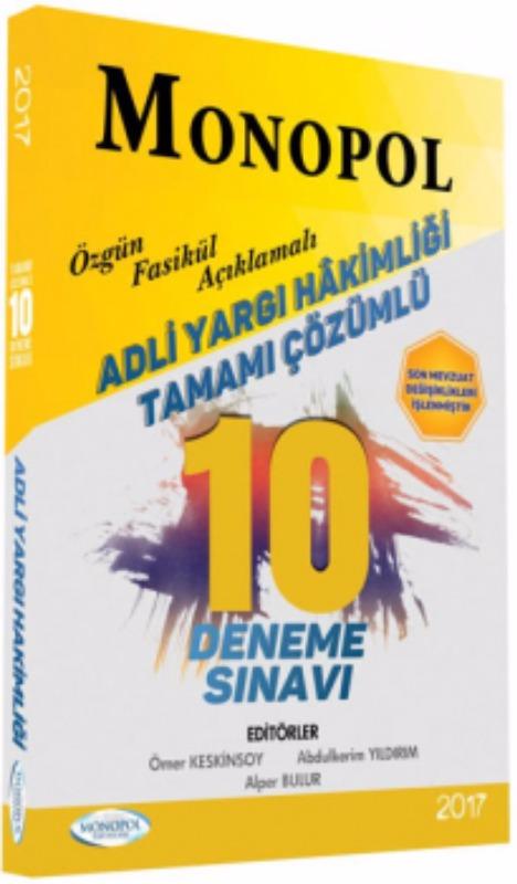 Monopol Yayınları Adli Yargı Hakimliği Çözümlü 10 lu Deneme Sınavı