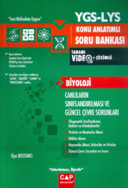 Çap Yayınları YGS LYS Biyoloji Canlıların Sınıflandırılması ve Güncel Çevre Sorunları Konu Anlatımlı Soru Bankası