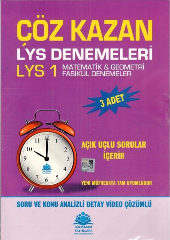 LYS 1 Matematik Geometri Çöz Kazan 3 Fasikül Deneme