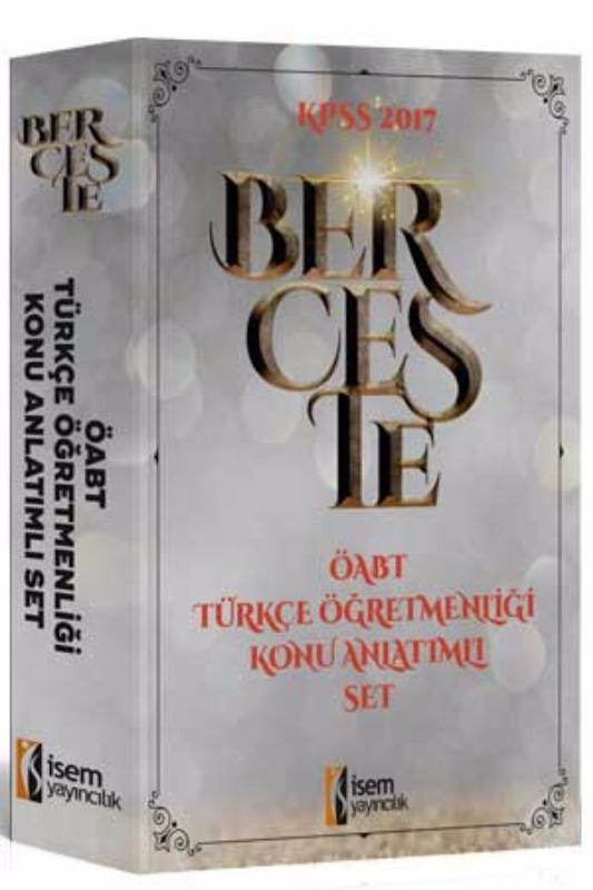 İsem Yayınları 2017 ÖABT Berceste Türkçe  Konu Anlatımlı Modüler Set 3 Kitap