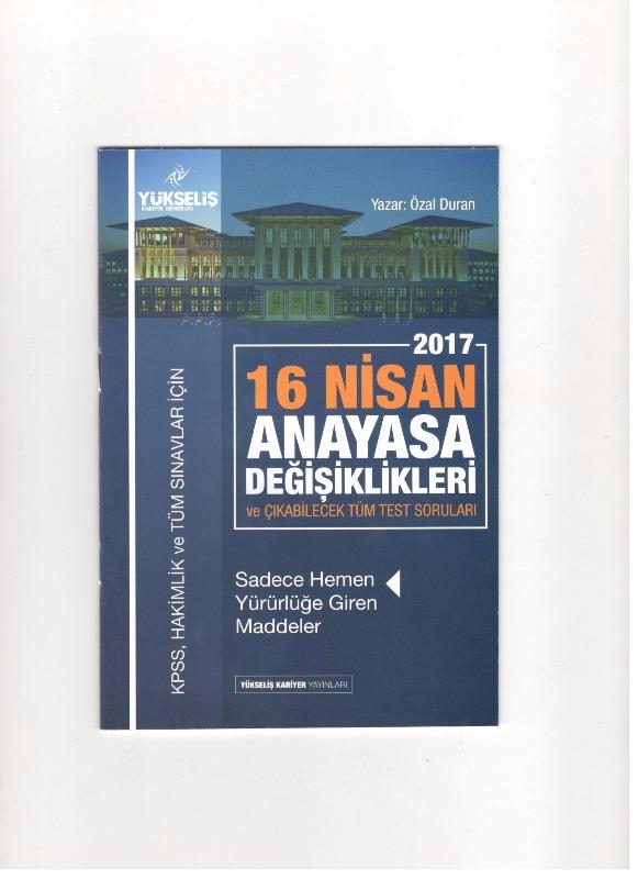 2017 16 Nisan Anayasa Değişikliği