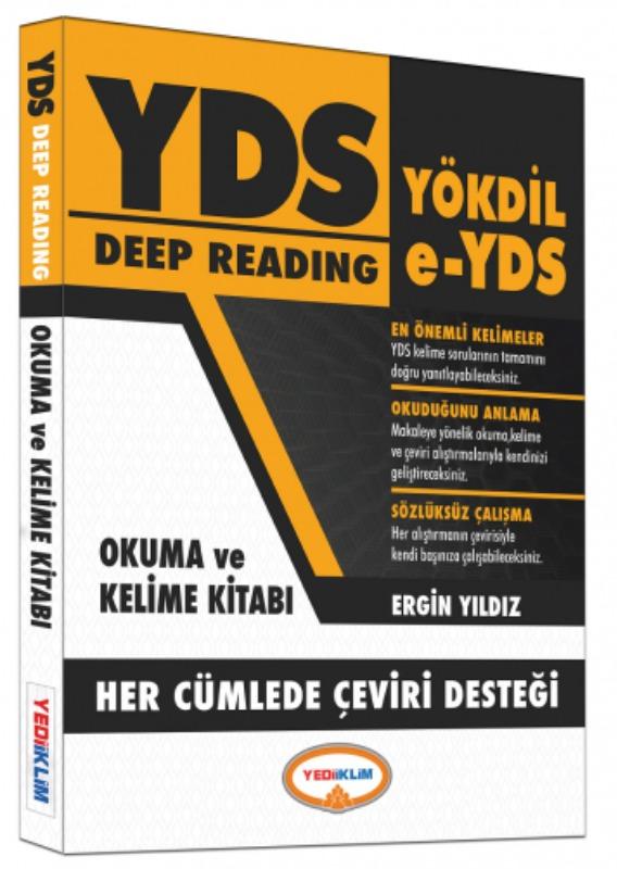 Yediiklim Yayınları YDS  YÖKDİL Deep Reading Okuma ve Kelime Kitabı