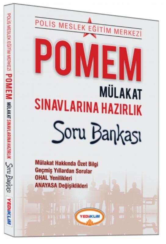 Yediiklim Yayınları Pomem Mülakat Sınavlarına Hazırlık Soru Bankası