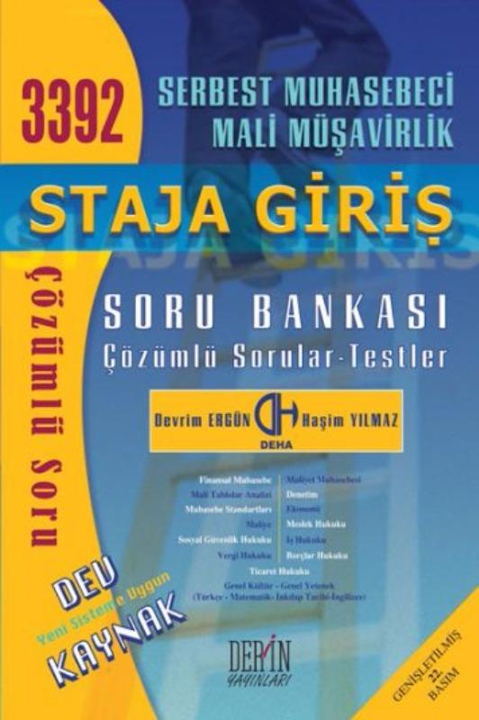 Derin Yayınları 2017 SMMM Staja Giriş Soru Bankası Çözümlü Sorular Testler