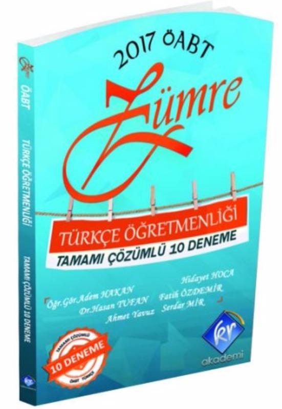 KR Akademi 2017 ÖABT Zümre Türkçe Tamamı Çözümlü 10 Deneme