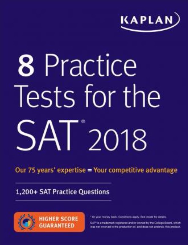 Kaplan Publishing 8 Practice Tests for the SAT
