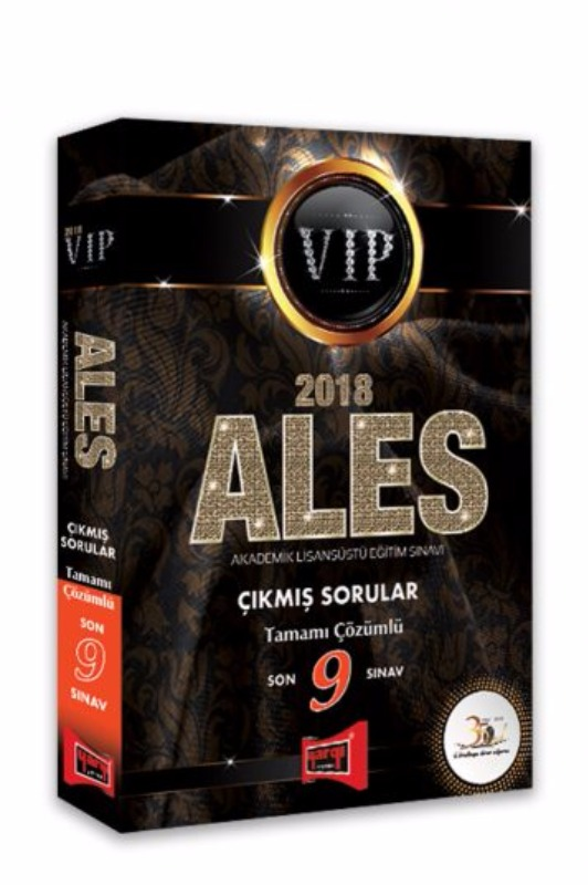 ALES VIP Son 9 Sınav Tamamı Çözümlü Çıkmış Sorular Yargı Yayınları 2018