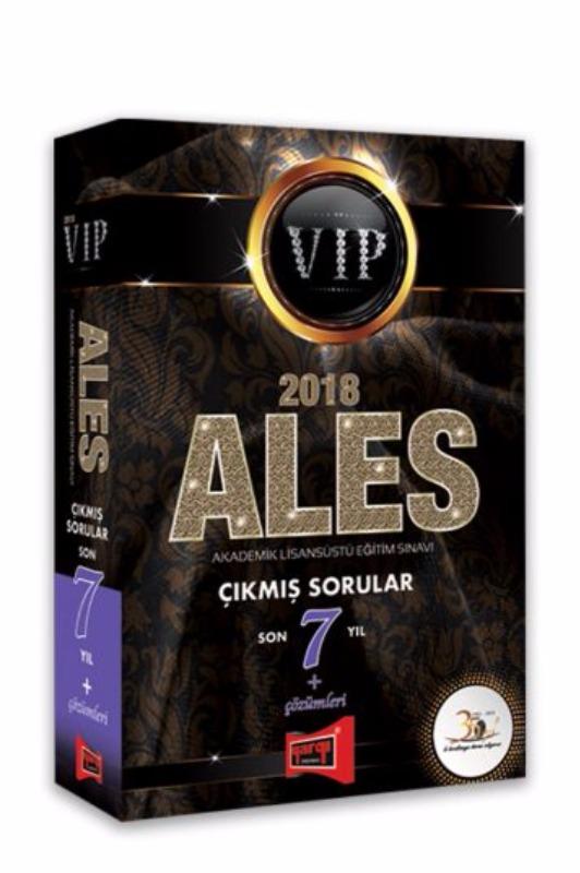 ALES VIP Son 7 Yıl Çıkmış Sorular + Çözümleri Yargı Yayınları 2018