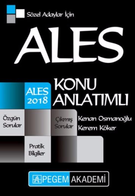 ALES Sözel Adaylar İçin Konu Anlatımlı Pegem Yayınları 2018