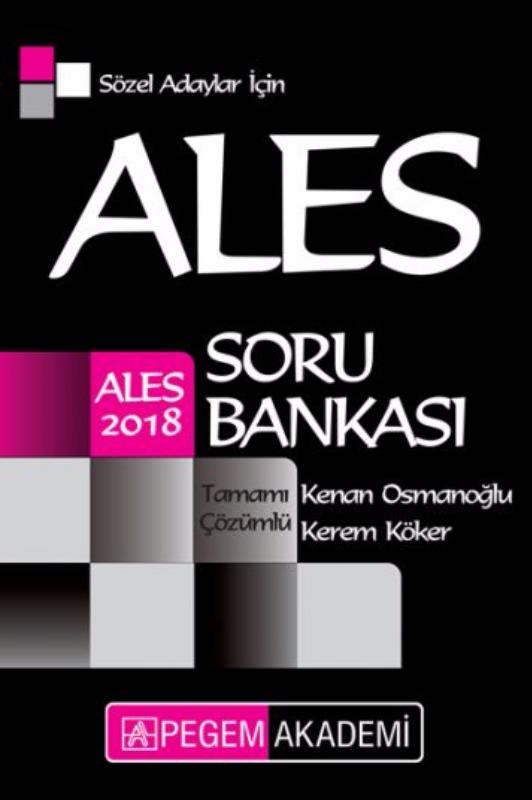 ALES Sözel Adaylar İçin Tamamı Çözümlü Soru Bankası Pegem Yayınları 2018