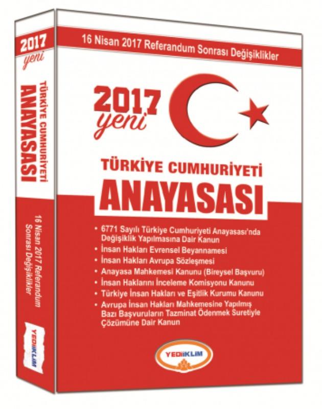 Yeni Türkiye Cumhuriyeti Anayasası Yediiklim Yayınları 2017