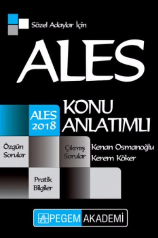 ALES Sözel Adaylar için Konu Anlatımlı Pegem Yayınları