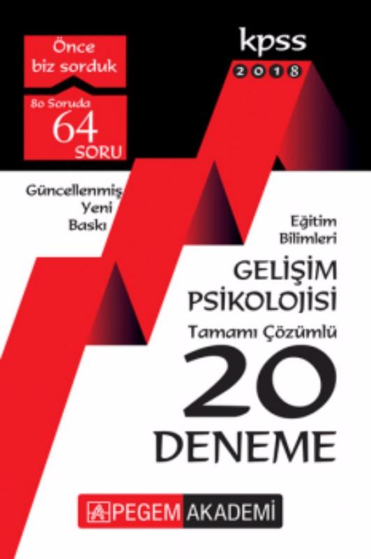 KPSS Eğitim Bilimleri Gelişim Psikolojisi Tamamı Çözümlü 20 Deneme Pegem Yayınları