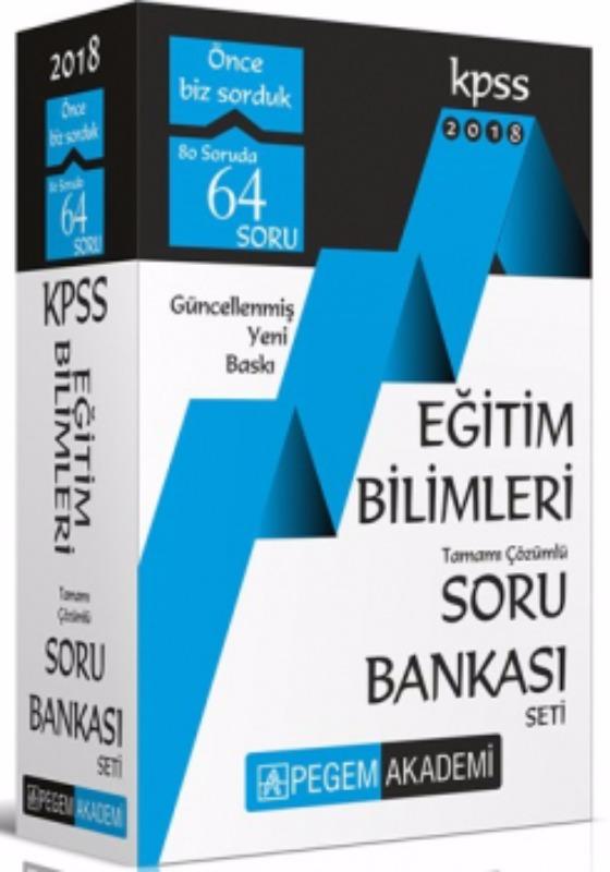 KPSS Eğitim Bilimleri Tamamı Çözümlü Modüler Soru Bankası Seti 6 Kitap Pegem Yayınları