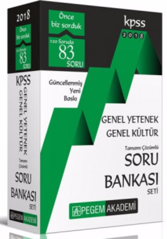 KPSS Genel Yetenek Genel Kültür Tamamı Çözümlü Soru Bankası Seti Pegem Yayınları