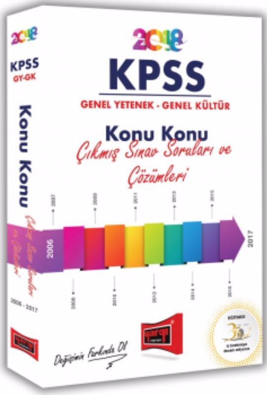 Yargı Yayınları KPSS GY GK Konu Konu Çıkmış Sınav Soruları ve Çözümleri